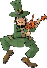 leprechaun playing a violin