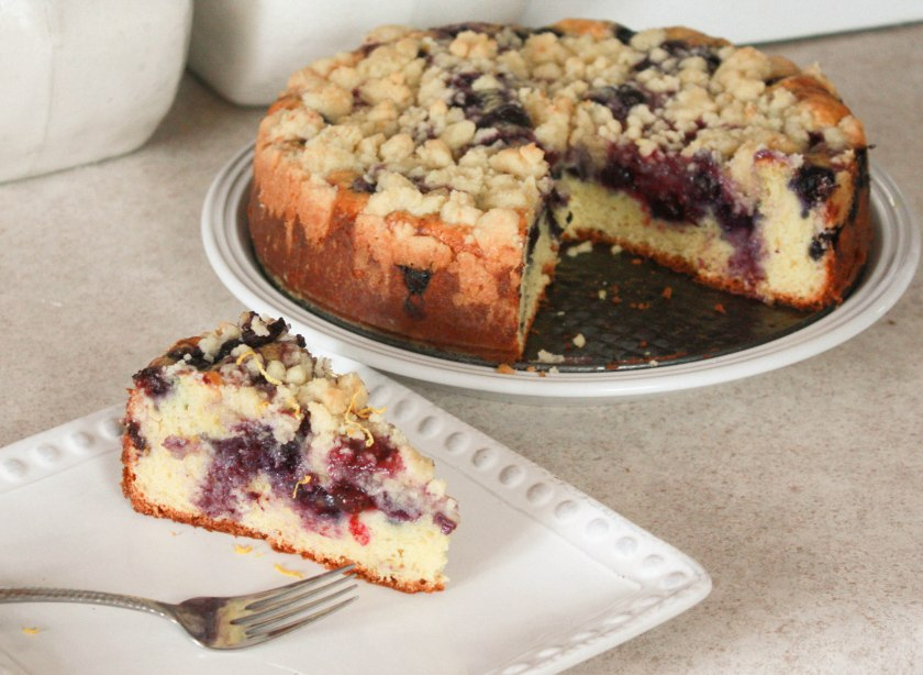 Blueberry Sour Cream Coffee Cake ~ Annie's Cooking Lab